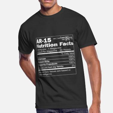Ar15 Assault Rifle AR15 Assault Rifle Nutrition Facts | For Gun Owner - Men's 50/50 T-Shirt