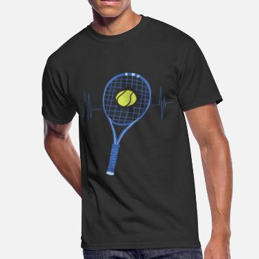 a255eb9aa5 Funny Tennis Player Gift Idea Tennis Heartbeat - Men's 50/50. Men's  50/50 T-Shirt