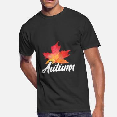 Autumn Leaves Baby Autumn gift colorful leaves rain - Men's 50/50 T-Shirt
