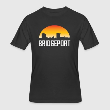 Bridgeport Connecticut Sunset Skyline - Men's 50/50 T-Shirt