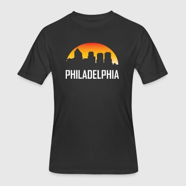 Philadelphia Pennsylvania Sunset Skyline - Men's 50/50 T-Shirt