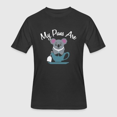 Koala Meme My Puns are Koala Tea - Men's 50/50 T-Shirt