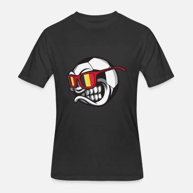 Angry Ball Belgium Angry Soccer Ball with Sunglasses FanShirt - Men's 50/50 T-Shirt