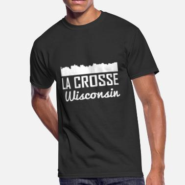 Downtown La La Crosse Wisconsin Skyline - Men's 50/50 T-Shirt