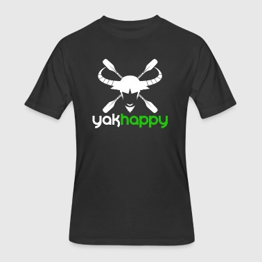 Yak Yakhappy Logo Light - Men's 50/50 T-Shirt