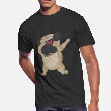 Pug Cute Dabbing Dabbing Pug Shirt Cute Dog Dab - Men's 50/50 T-Shirt