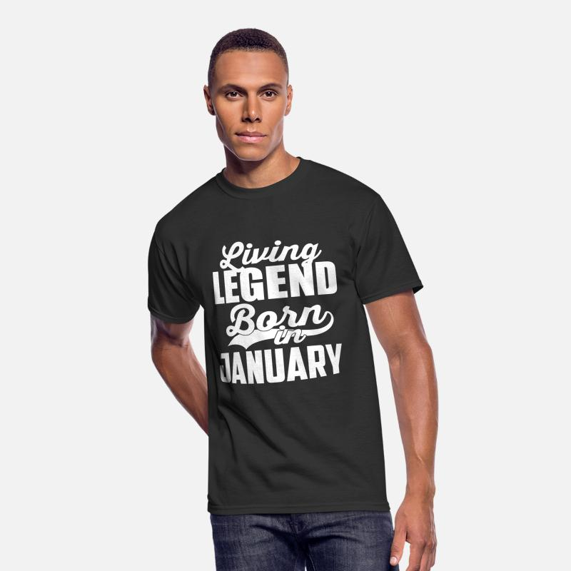 January Birthday Boy T-shirt Present Gift T-Shirts - JANUARY 2 - Men's 50/50 T-Shirt black