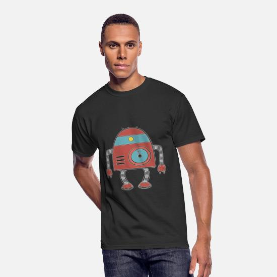 Robot T-Shirts - Funny Robots - Mechanical Toy Movement Humor - Men's 50/50 T-Shirt black