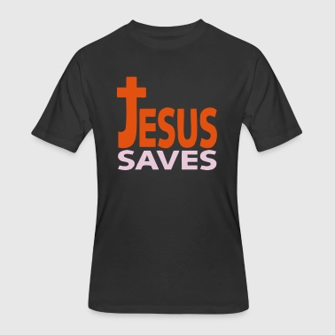 Jesus saves 1 - Men's 50/50 T-Shirt