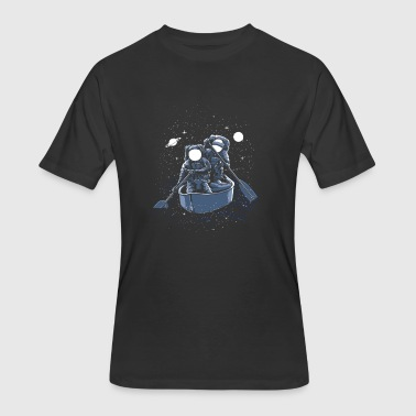 Astronauts rowing in space! Welcome to galaxy. - Men's 50/50 T-Shirt