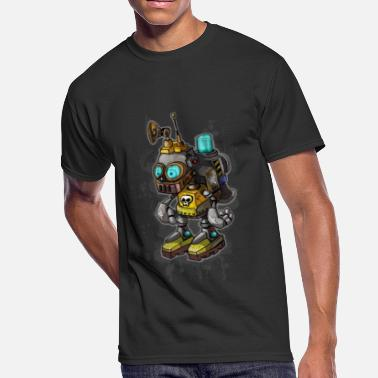Kid Robot Robot Kid by Shane Grammer - Men's 50/50 T-Shirt