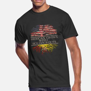 American With Italy Roots American grown with sicilian roots - Men's 50/50 T-Shirt