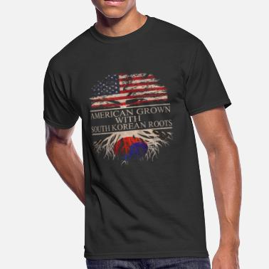 South Korean American American grown with South Korean Roots - Men's 50/50 T-Shirt