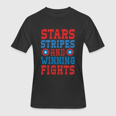 Badstreet Usa Usa - Stars Stripes And Winning Fights - Men's 50/50 T-Shirt