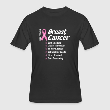 Help Cancer Breast cancer - Help prevent breast cancer t - s - Men's 50/50 T-Shirt