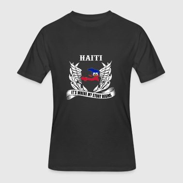 Haiti Relief Haiti - It's where my story begins awesome tee - Men's 50/50 T-Shirt