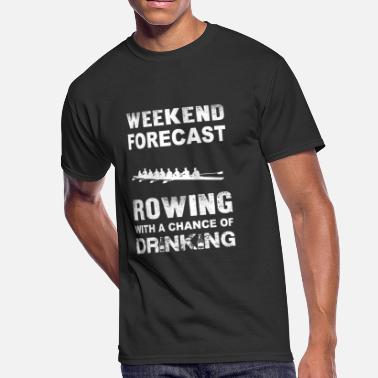 Regatta Crews Weekend forecast rowing - With chance of drinkin - Men's 50/50 T-Shirt