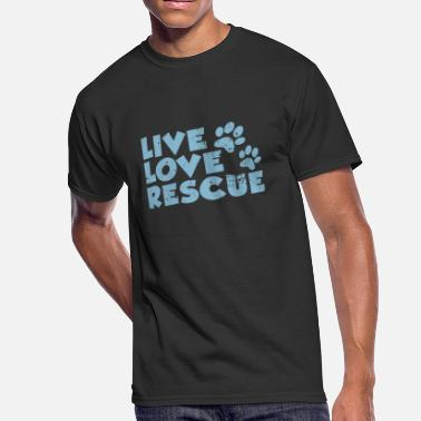 Rescue Dog Live Love Rescue Dog Paws - Men's 50/50 T-Shirt