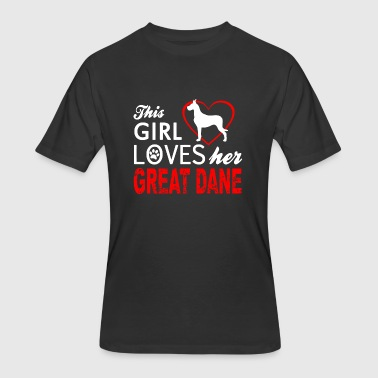 Dane - this girl loves her great dane - Men's 50/50 T-Shirt