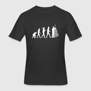 Double bass - Double Bass Player Evolution Funny - Men's 50/50 T-Shirt
