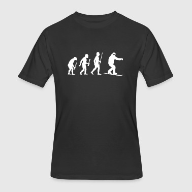 Snowboarding - Snowboarding Evolution of Man - Men's 50/50 T-Shirt