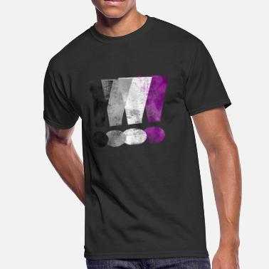 Asexual Asexual Pride Exclamation Points - Men's 50/50 T-Shirt