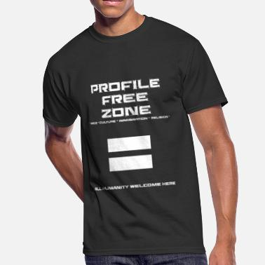 Profiler Profile - Profile Free Zone - Men's 50/50 T-Shirt