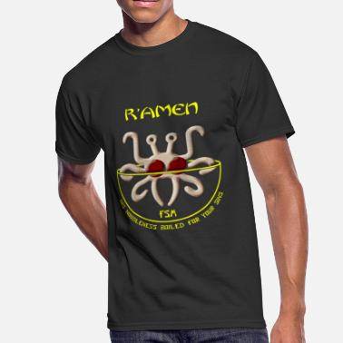 Spaghetti Monster Spaghetti - Flying Spaghetti Monster -- R'Amen - Men's 50/50 T-Shirt