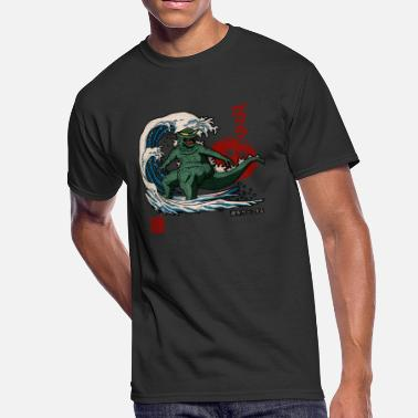 Japanese Surf surfing monster japanese - Men's 50/50 T-Shirt