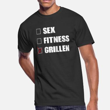 Bbq Grillen Sex fitness grillen cross - Men's 50/50 T-Shirt