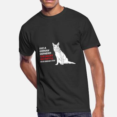 Rottweiler German Shepherd GERMAN SHEPHERD - GIVE A GERMAN SHEPHERD YOUR HE - Men's 50/50 T-Shirt