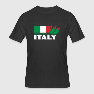 Italy Design with Flag - Men's 50/50 T-Shirt