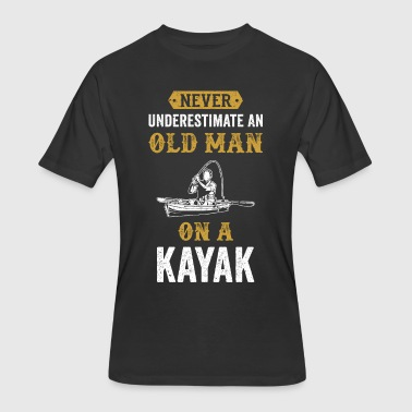 Canoe Jokes Kayak Canoe Old Man Funny Kaja Gift Vintage - Men's 50/50 T-Shirt