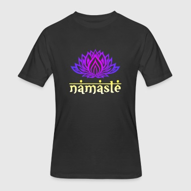 Esotericism Namaste Lotus Flower - Men's 50/50 T-Shirt