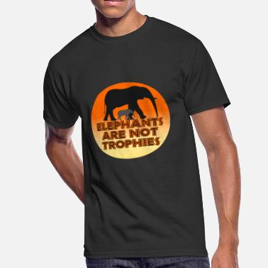 8ad81175cfc836 Elephants Are Not Trophies - Men  39 s 50 50 ...