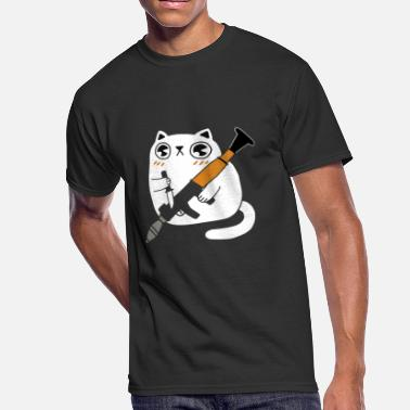Knife Cats Calm Cuddly Combat Cat Rudal Knife - Men's 50/50 T-Shirt