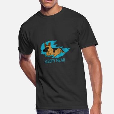 Sleepyhead German Shepherd Labrador Sleepyhead Gift Idea - Men's 50/50 T-Shirt