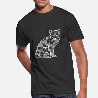 Line Drawing Fox geometric polygon gift idea hipster animal - Men's 50/50 T-Shirt