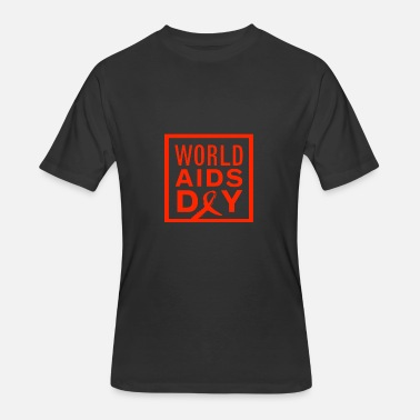 Hiv Aids world aids day vectorized - Men's 50/50 T-Shirt
