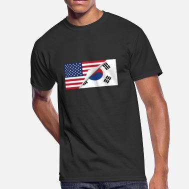South Korean American Flag Half American Half South Korean Flag - Men's 50/50 T-Shirt