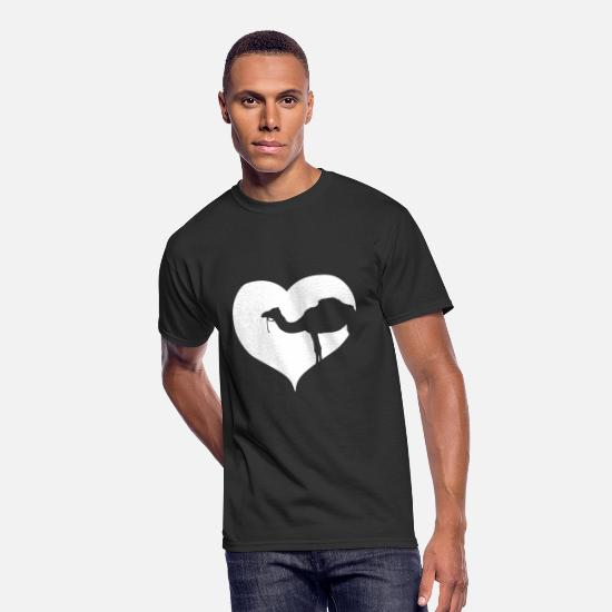 Gift Idea T-Shirts - Heart Dromedary Camel - Men's 50/50 T-Shirt black