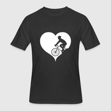 Cycling bicycle helmet safety road traffic - Men's 50/50 T-Shirt