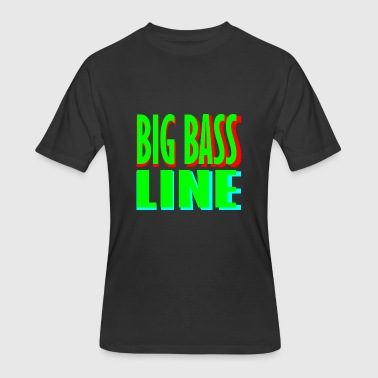 big bass line line - Men's 50/50 T-Shirt