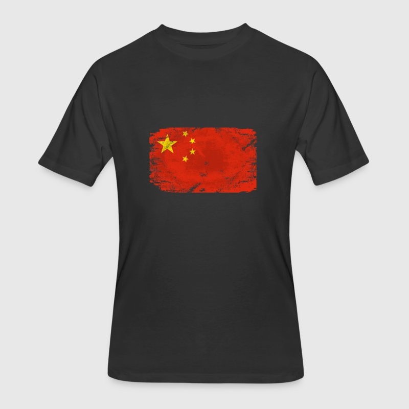 China Flag - Men's 50/50 T-Shirt
