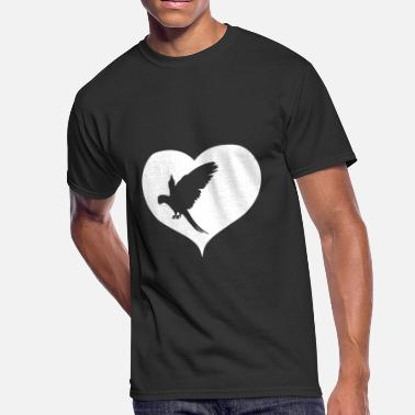 Jungle Family Parrot bird heart jungle gift - Men's 50/50 T-Shirt