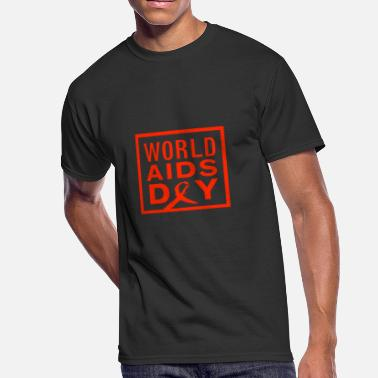 Hiv world aids day vectorized - Men's 50/50 T-Shirt