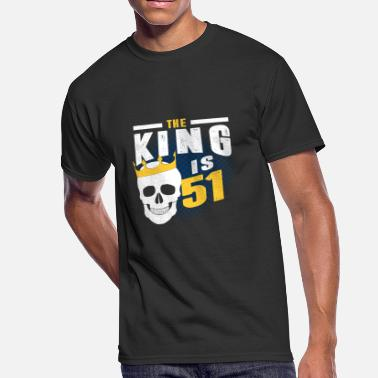 51 Years the king is 51 - Men's 50/50 T-Shirt