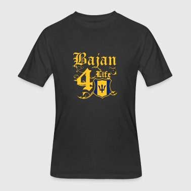 Proudly Bajan for life flag Barbados - Men's 50/50 T-Shirt
