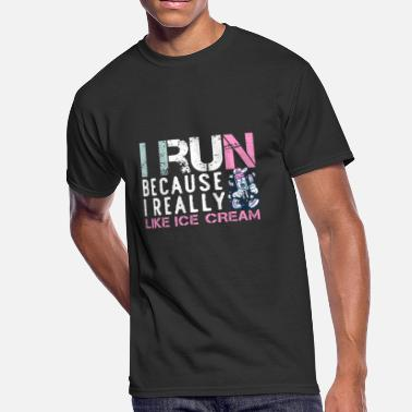 Triathlon Funny I Run Because I Really Like Ice Cream - Men's 50/50 T-Shirt