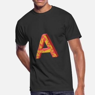 3d Kids Design Letter A 3D Design - Men's 50/50 T-Shirt